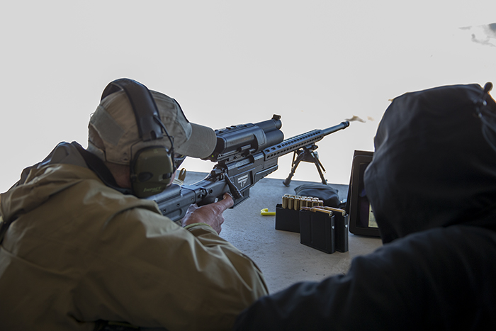 Firing the Tracking Point rifle