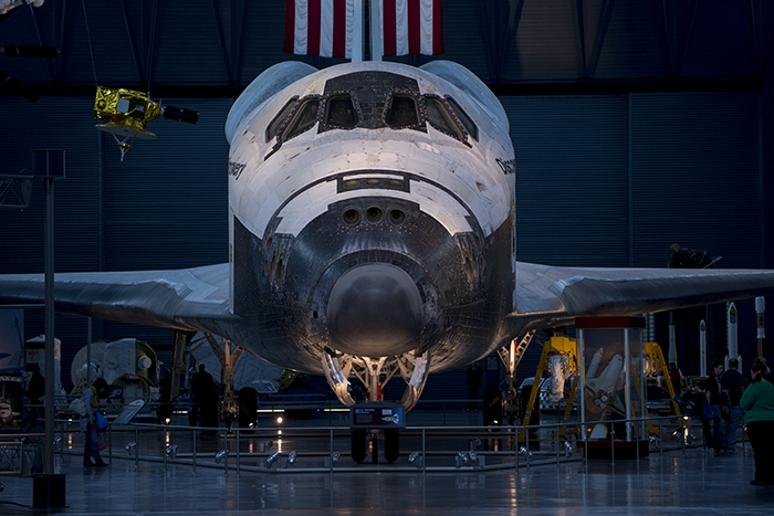 Shuttle Discovery front
