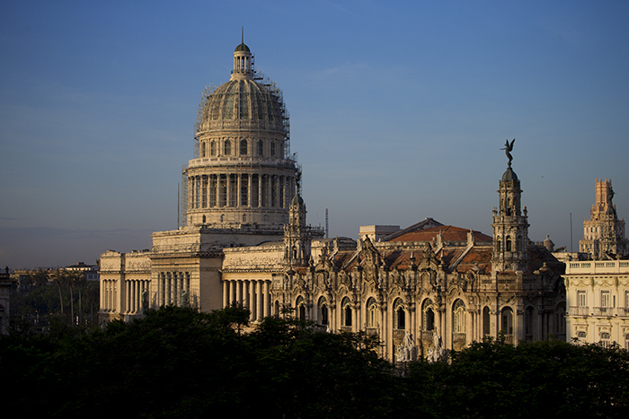 Sunrise on Havana Capitol