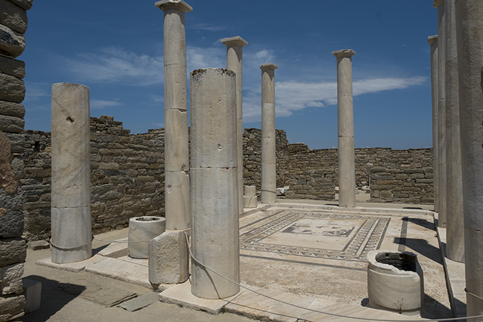 Pillars and mosaics of ruin