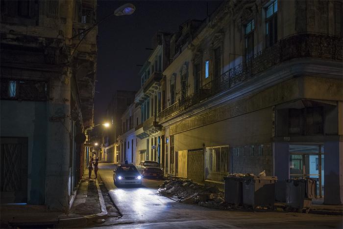 Police patrol Havana