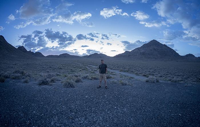 BWJones in desert