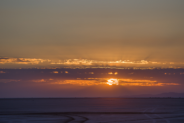 Sunrise on the salt