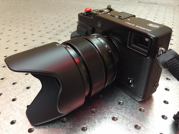 Fuji 23mm on XPro w hood