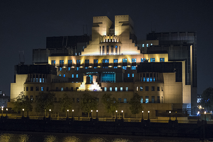 MI6 at night