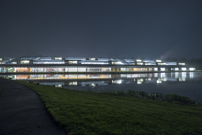 Janelia Farm In The Rain At Night