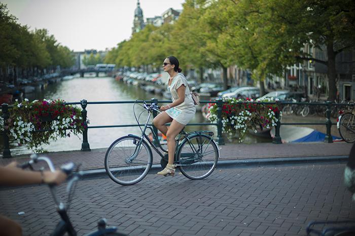 Amsterdam biking bridge