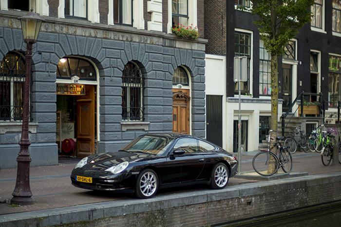 Porsche on canal