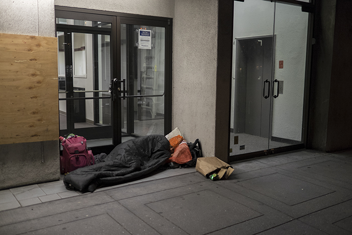 Sleeping on the street