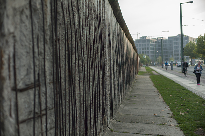 Berlin Wall crumbling
