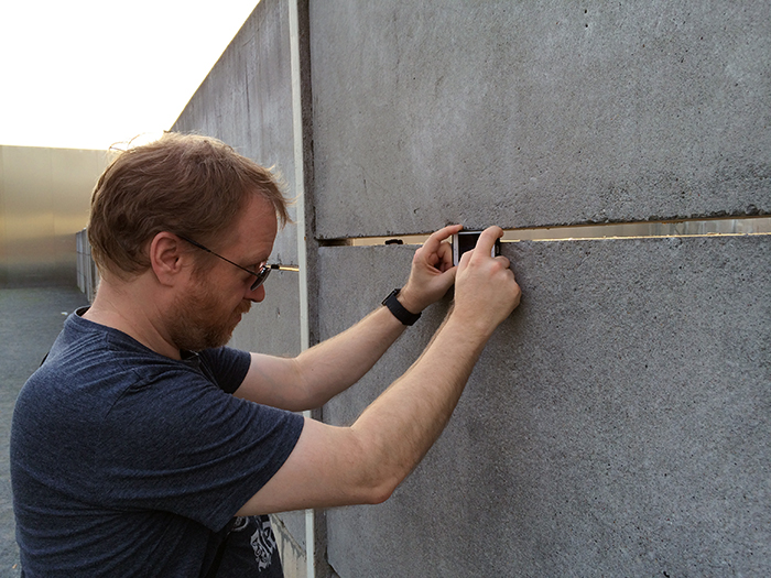 Duncan at Berlin Wall