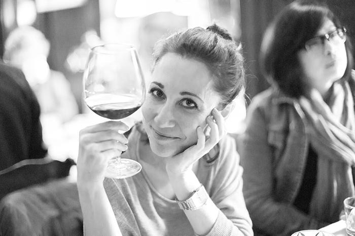 Katerina at dinner