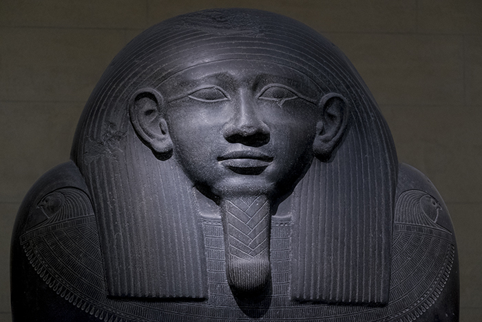 Egyptian sarcophagus face