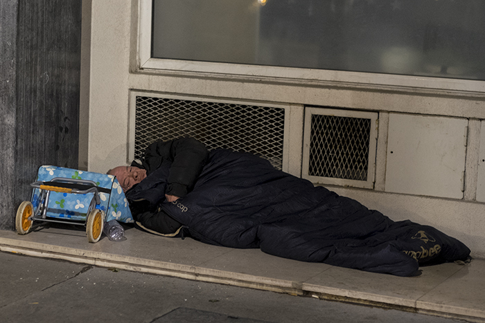 Homeless in Paris