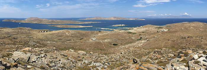 Delos mountaintop panorama_
