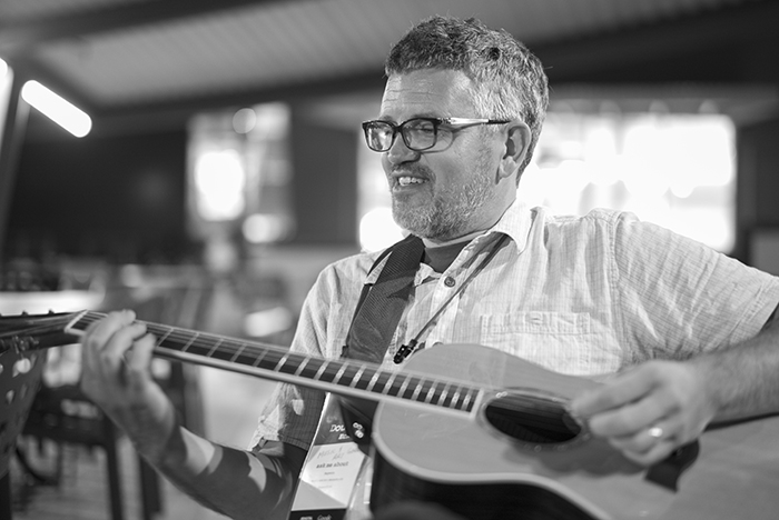 Douglas Eck with guitar 2